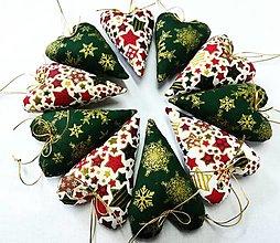 Dekorácie - Vianočné srdiečka - 13753220_
