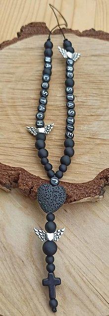 Iné šperky - Prívesok alebo amulet do auta  na želanie s textom menom alebo dátumom aj farebne podla vašeho priania použitý lavové sr - 13754605_