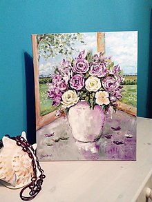Obrazy - Zátišie s ružami - 13753896_