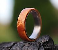 Prstene - SKLADOM Titánový prsteň stabilizovaný javor  - 13755740_