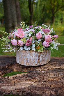 Dekorácie - Ružový aranžmán - 13755558_