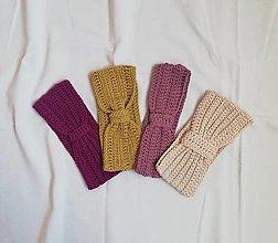 Čiapky - Ručne háčkované čelenky z bavlny - 13754969_