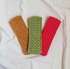 Čiapky - Ručne háčkované čelenky vyrobené z bavlny - 13754971_