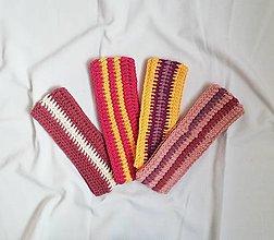 Čiapky - Ručne háčkované čelenky vyrobené z bavlny - 13755017_