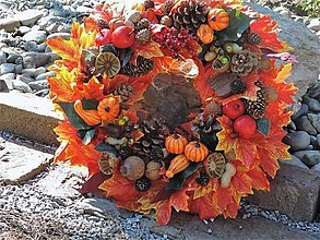 Dekorácie - Jesenný veniec - 13758054_