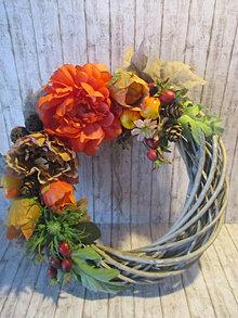 Dekorácie - Jesenný veniec - 13757091_