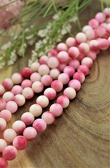 Minerály - jadeit ružovkavý korálky 10mm - 13756603_