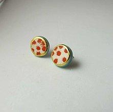 Náušnice - TANA hand made jewellery - keramika/zlato - 13756293_