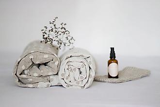 Úžitkový textil - Ľanový obojstranný uterák - 13757523_