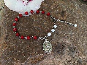 Náramky - ruženec na ruku so sv. Filoménou-oceľ - 13756587_