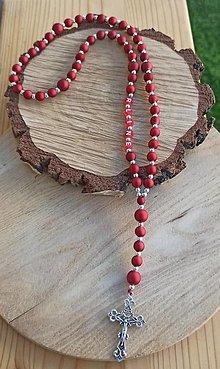 Iné šperky - Ruženec na želanie čistý  na želanie s textom menom alebo dátumom aj farebne podľa vašeho priania použité plastové korál - 13760077_