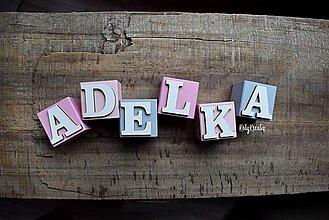 Hračky - kocky s písmenkami na želanie - 13758911_