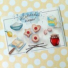 Papier - Linecké koláčiky - 13759163_