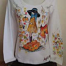 """Tričká - Ručnemaľované tričko - """" Kvetované """" - 13760967_"""