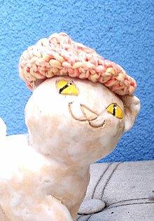 Sochy - Mačička a baretka -- keramika 2. - 13761023_