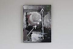 Obrazy - mother's womb II . akryl na plátne . A3 . abstraktná maľba - 13761226_