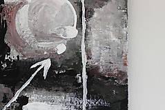 Obrazy - mother's womb II . akryl na plátne . A3 . abstraktná maľba - 13761230_