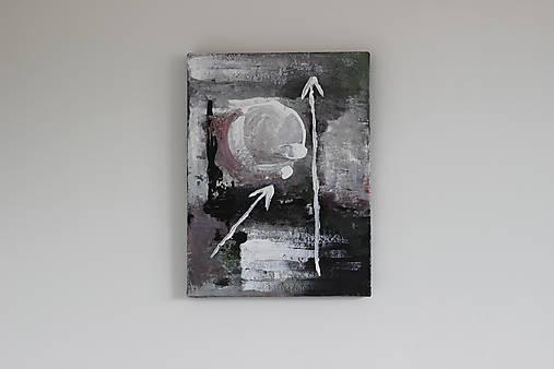 mother's womb II . akryl na plátne . A3 . abstraktná maľba