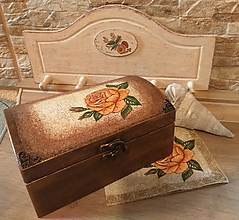 Krabičky - Šperkovnica s ružou - 13759915_