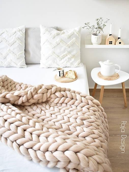 Úžitkový textil - Merino deka 120x150 cm - vlna standard - 13762190_
