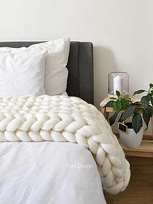 Úžitkový textil - Pletená merino deka 70x100 cm - vlna standard - 13762442_