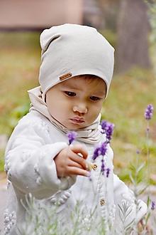 Detské súpravy - Jarný set Bavlna / Ľan -natural - 13759289_