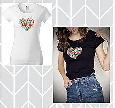 "Tričká - Dámske tričko s krátkym rukávom - ""Srdce maj silné,..."" - 13762090_"