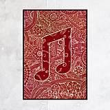 Grafika - Hudba rozjasní prostredie - štvrtinové noty - 13759041_