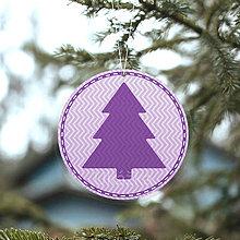 Dekorácie - Vianočný stromček ozdoba kruhová (cik-cak) - 13759995_