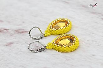 Náušnice - nášnice žlté kvapky - 13766110_