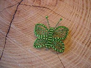 Brošne - Motýlik - 13763719_