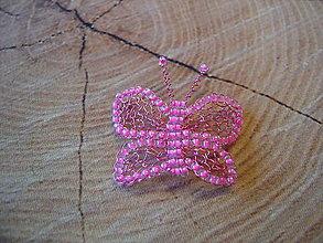 Brošne - Motýlik - 13763731_