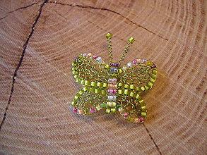 Brošne - Motýlik - 13763794_