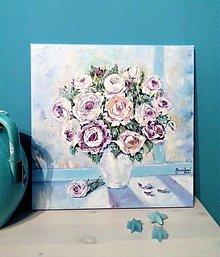 Obrazy - Ruže na okne - 13765417_