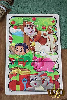 Detské doplnky - Drevené hračky FARMA - 13765514_