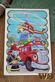 Detské doplnky - Drevené hračky POŽIARNIK/AUTÍČKA - 13765528_