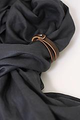 """Doplnky - Elegantná pánska šatka z ľanu grafitovej farby """"Carcoal"""" - 13762551_"""