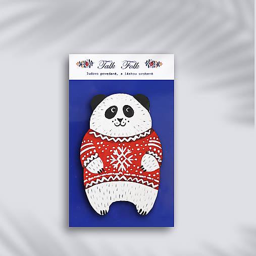 Brošnička - Panda (V svetri)