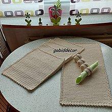 Úžitkový textil - Háčkované kuchynské prestieranie z kvalitných bavlnených šnúr s ozdobným olemovaním - 13765438_
