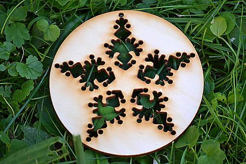 Vianočné ozdoby klassic (vločka kruh 2)