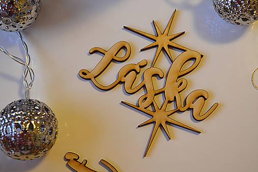 Set vianočné ozdoby veselé vianoce v krabičke