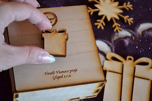 Set vianočné ozdoby mená v krabičke