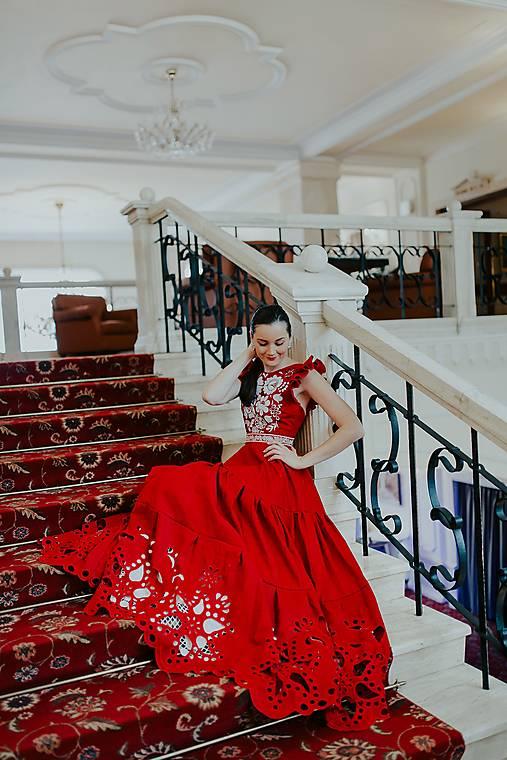 madeirové šaty Poľana (Červená)