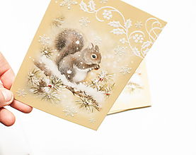 "Papier - Pohľadnica ""Veverička emboss"" - 13765412_"