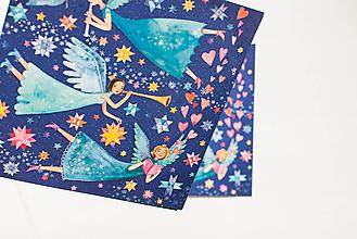 """Papier - Pohľadnica """" Anjelské prianie """" - 13765583_"""