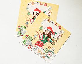 """Papier - Pohľadnica """"Vianočná atmoška pri pečení"""" - 13765621_"""