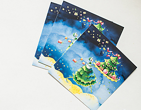 "Papier - Pohľadnica ""Atmosféra Vianoc"" - 13765642_"