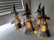 Svietidlá a sviečky - keramika duchovia.. - 13763614_
