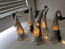 Svietidlá a sviečky - keramika duchovia.. - 13763622_