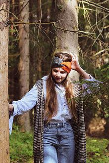 Ozdoby do vlasov - dvojfarebná čelenka - 13764348_